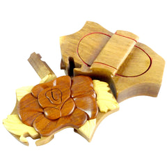 Timber-Treasures Rose Puzzle Box