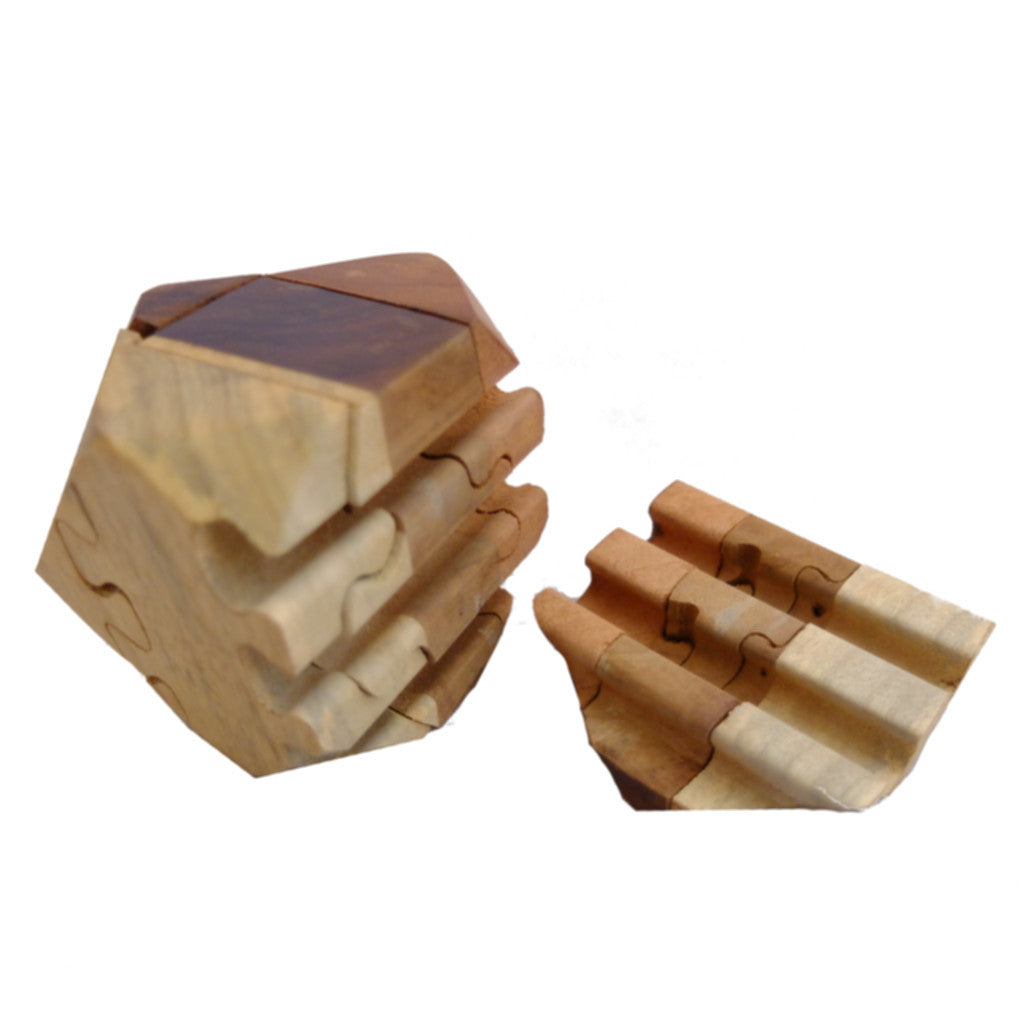 Wooden Tetradecahedron Puzzle - Timber-Treasures