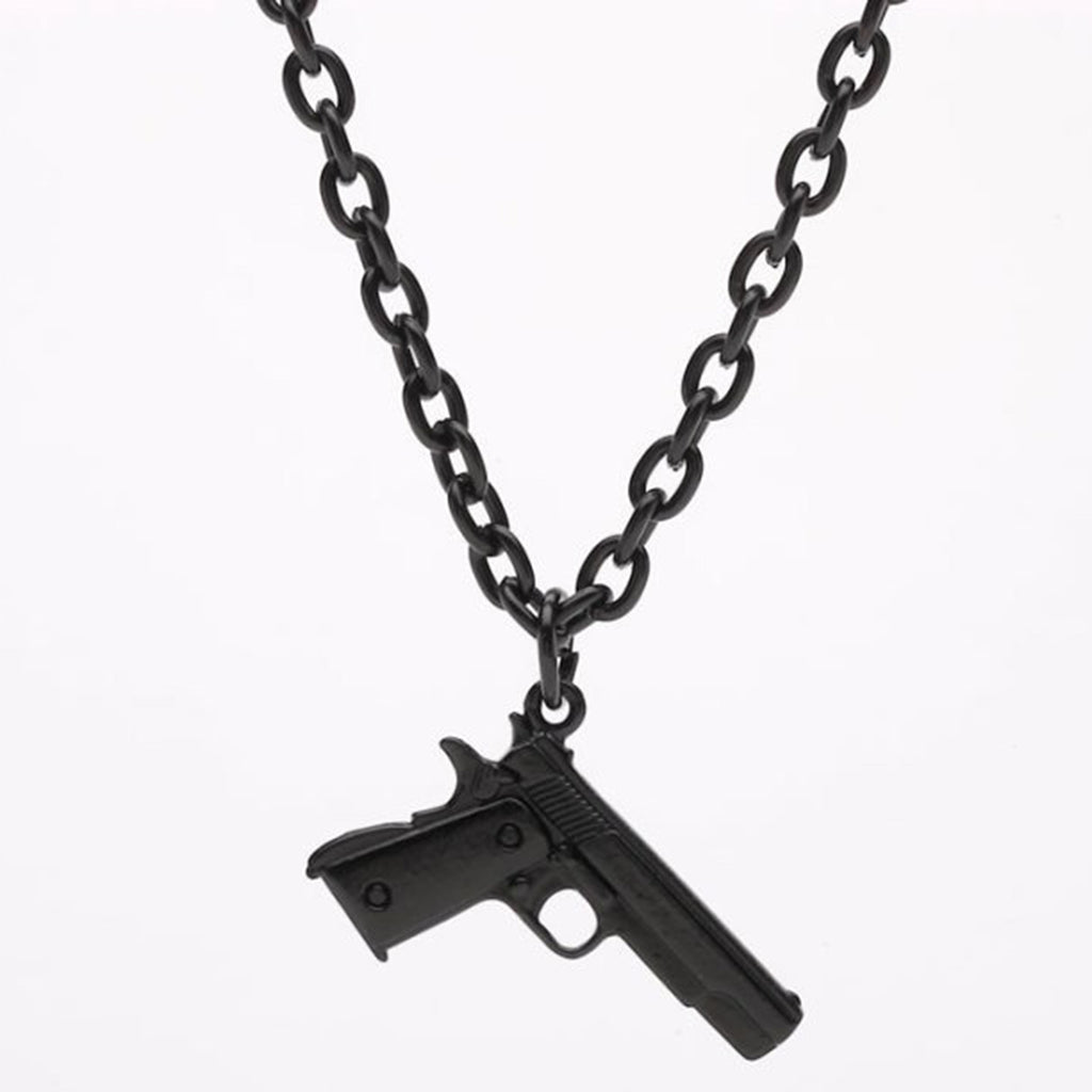 "UNISEX 24"" CHAIN BLACK MINI GUN"