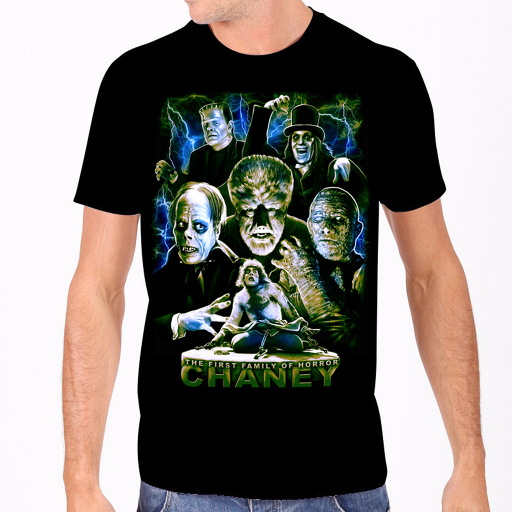 Chaney - The First Family of Horror Men's Tee