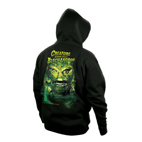 creature from the black lagoon men's zip-up hoodie universal monsters rock rebel hot topic too fast sourpuss goth punk classic horror skateboard