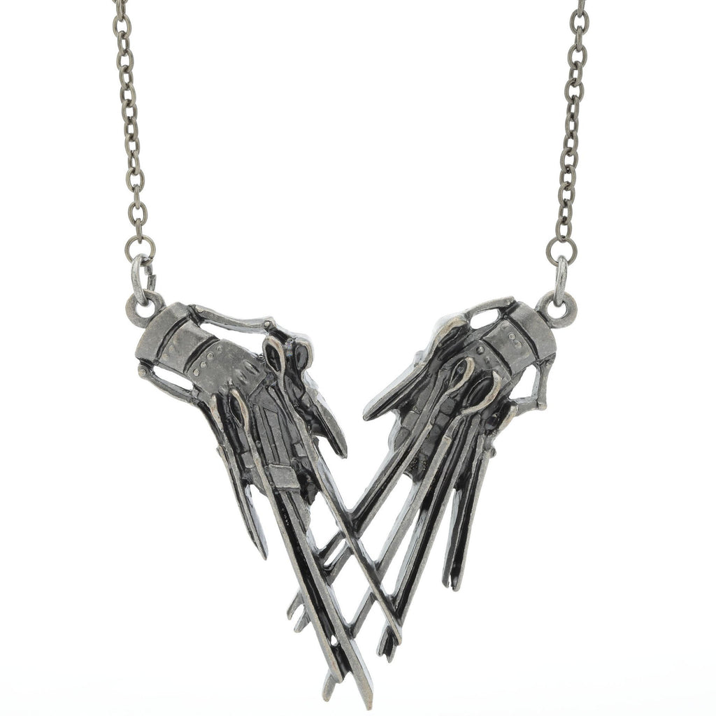 Edward Scissorhands Hands Pendant Necklace