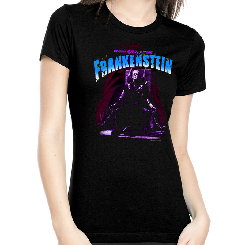Blue Electric Chair Frankenstein Women's Tee