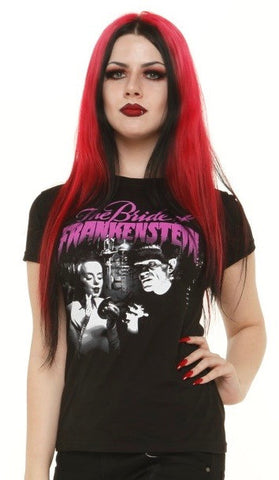 bride of frankenstein tee rock rebel hot topic too fast sourpuss goth punk horror universal monsters