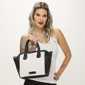 Perforated Star Tote in White