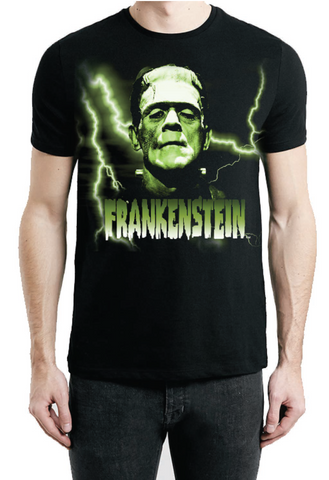 green frankenstein tee rock rebel hot topic too fast sourpuss goth punk horror universal monsters