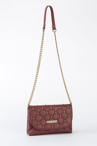 GG Rose Quilted Skulls Crossbody Marsala burgundy goth punk glam alternative hot topic sourpuss