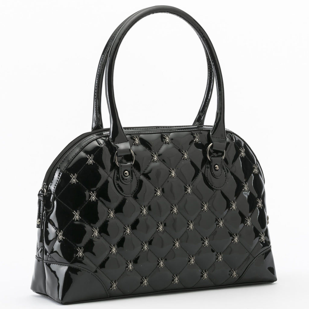 Lucy Quilted Handbag in Black