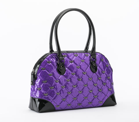 Limited Edition Purple Glitter Monster Collage Handbag