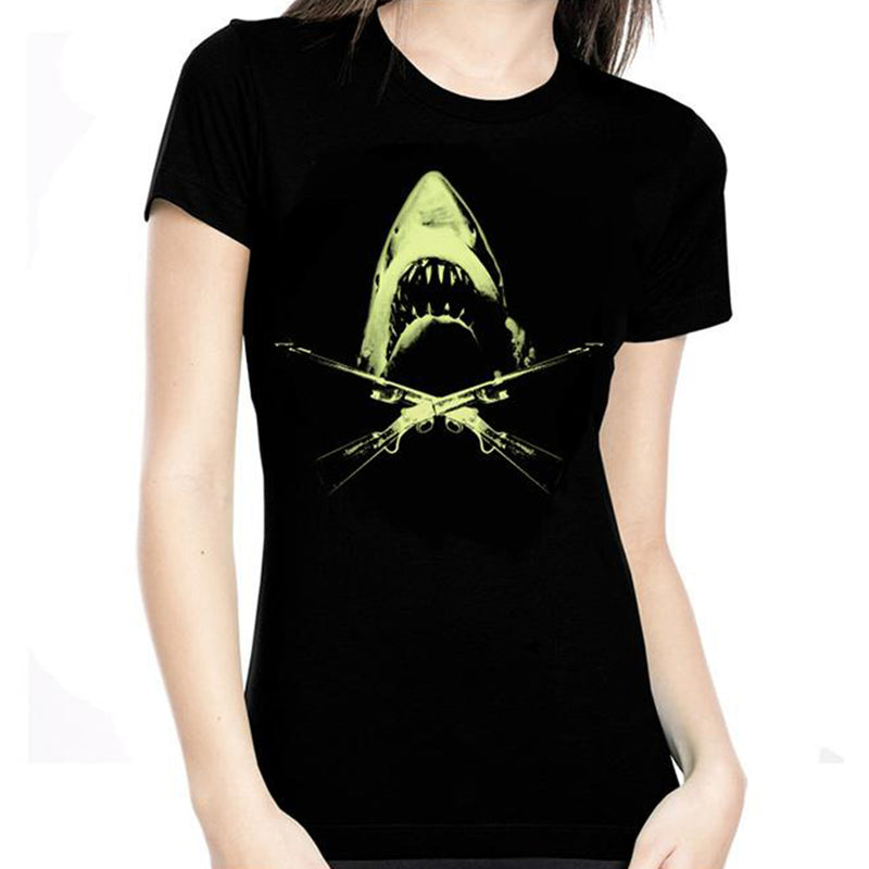 Jaws Glow In The Dark Women's Tee