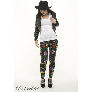Colored Pattern Leggings