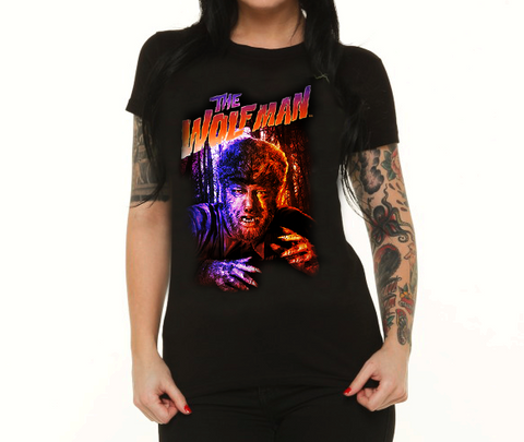 Women's Colored Wolfman Tee