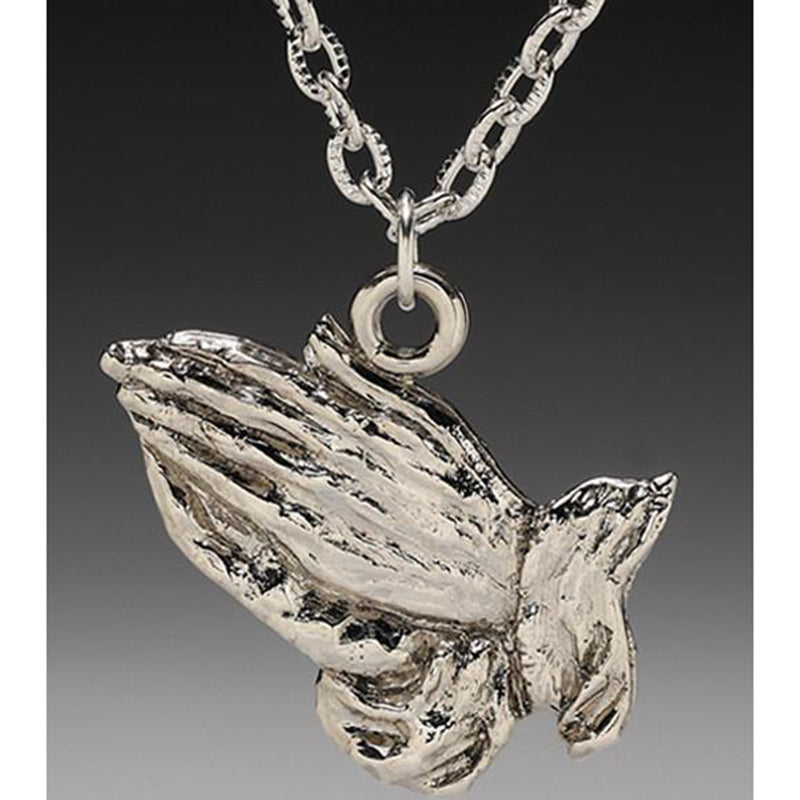 Praying Hands Pendant Necklace