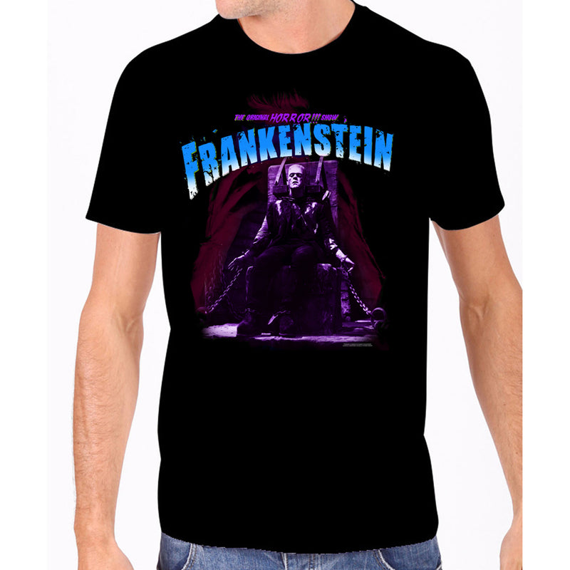 Blue Electric Chair Frankenstein Men's Tee