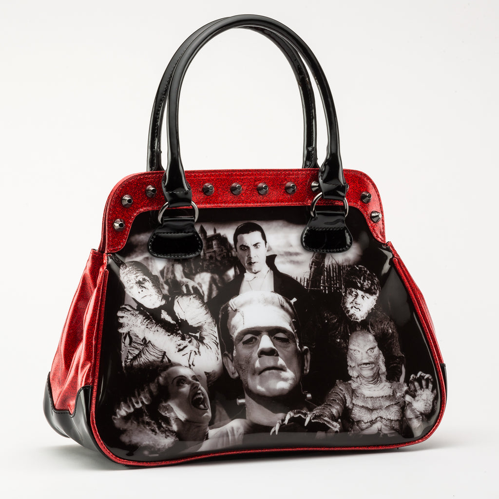 ***LIMITED EDITION*** Red Glitter Monster Collage Handbag