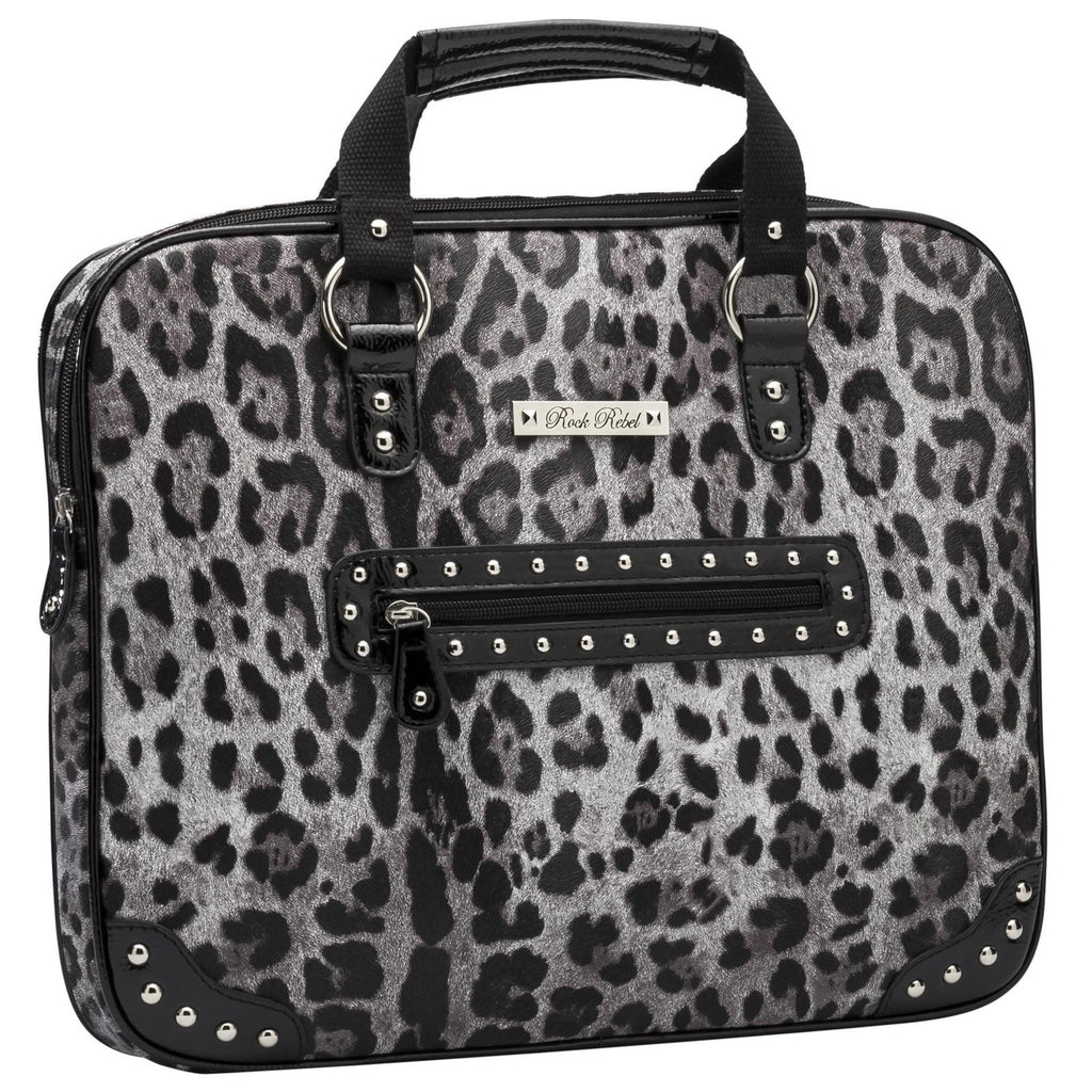 Grey Leopard Media Bag