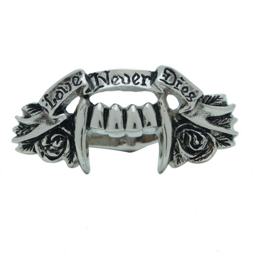 LOVE NEVER DIES 2 FINGER RING
