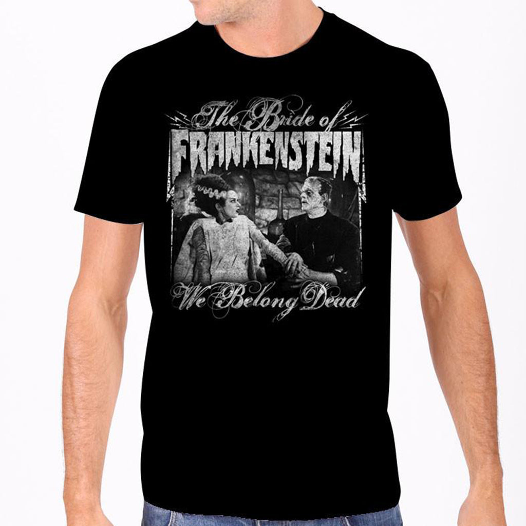 We Belong Dead The Bride of Frankenstein Men's Tee
