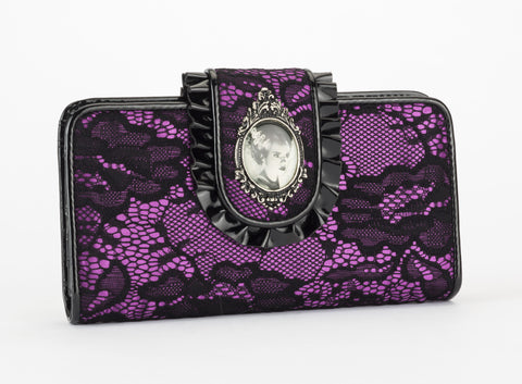 Lace Bride of Frankenstein Wallet universal monsters rock rebel hot topic too fast sourpuss goth punk horror