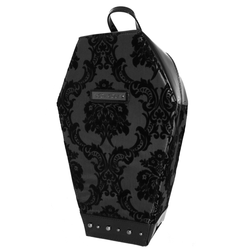 Damask Coffin Backpack in Black