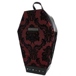 Damask Coffin Backpack in Red
