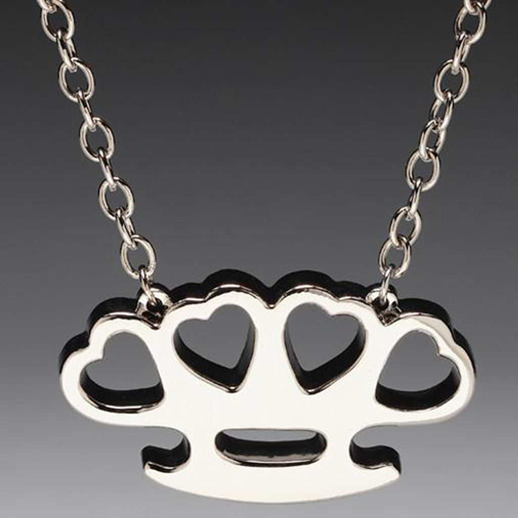 Silver Heart Knuckles Pendant