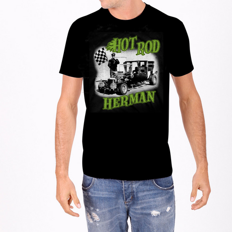 Hot Rod Herman Munster Men's tee the munsters rock rebel hot topic too fast sourpuss goth punk horror tv 60s retro spooky dragula