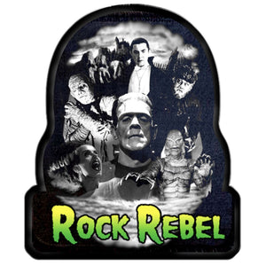 Rock Rebel Monster Collage Patch
