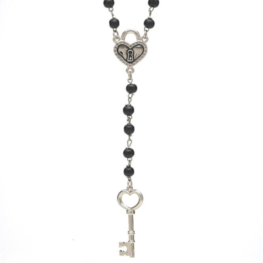 Key to My Heart Rosary Necklace