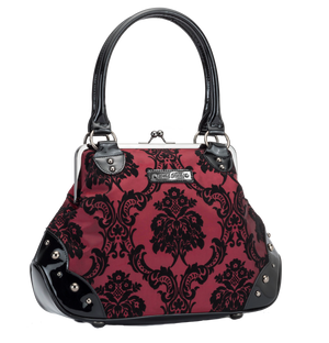 Mistress Kisslock Bag in Deep Red