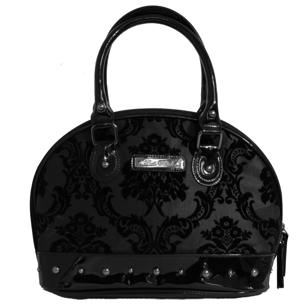 Damask Marguax Hand Bag In Black