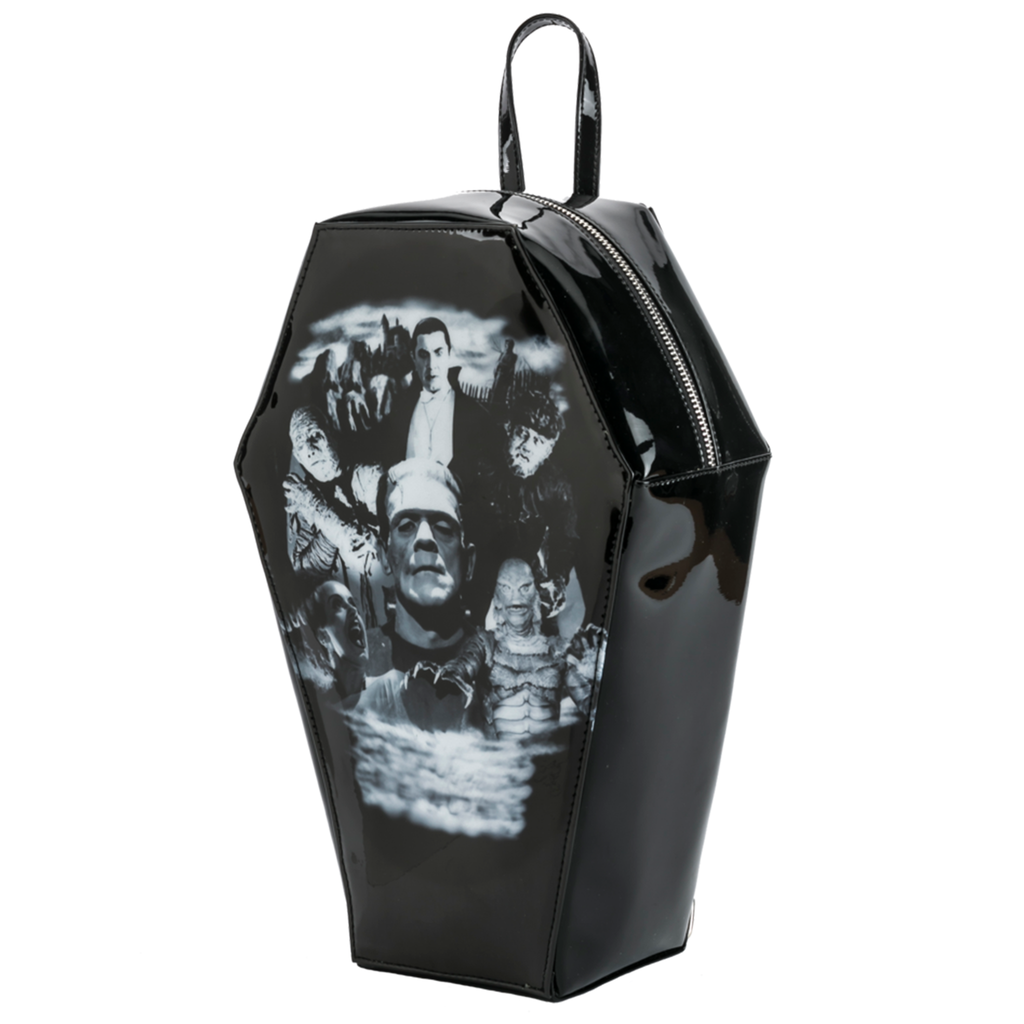 Monster Collage Coffin Backpack