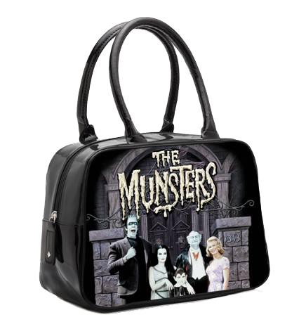 The Munsters Color Portrait Bowler Handbag