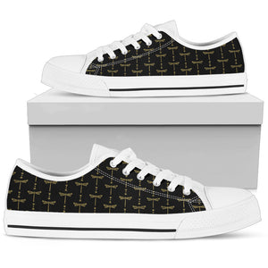 Womens Gold + White Tusweca Dragonfly Low Top Shoe - kili-creations