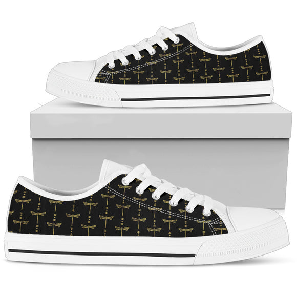 Womens Gold + White Tusweca Dragonfly Low Top Shoe