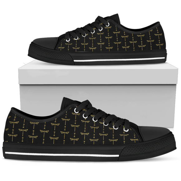 Women's Gold Tusweca Dragonfly Low Top Shoe - kili-creations