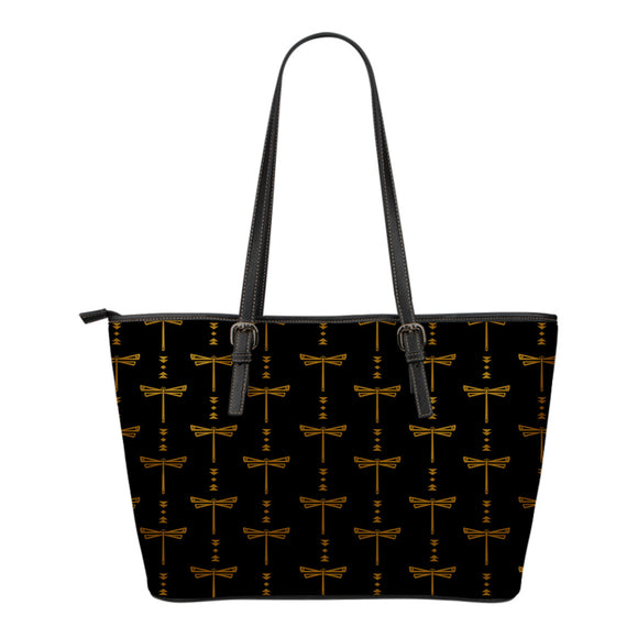 Tusweca Dragonfly Small Leather Tote - kili-creations