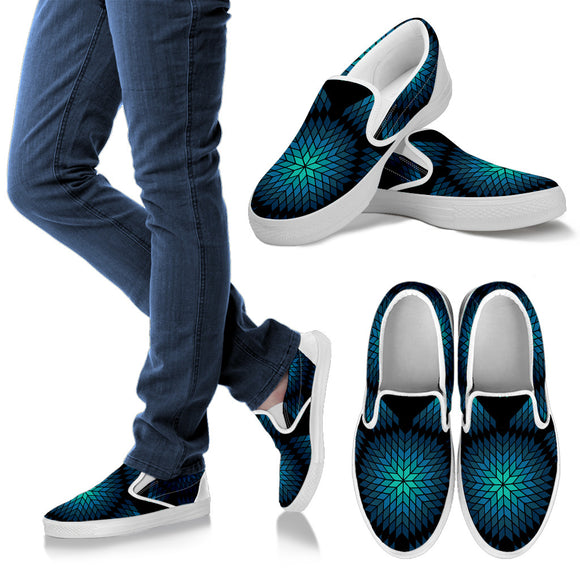 Women's Teal Morning Star Slip on Shoes