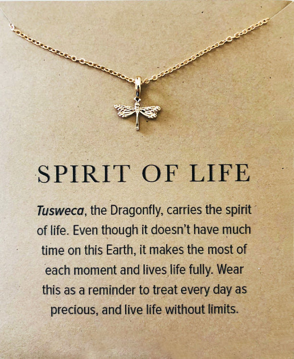 Spirit of Life Dragonfly Necklace