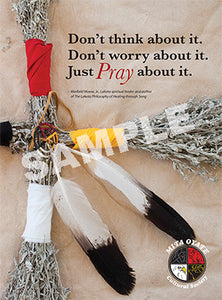 Mita Oyate Pray About It Poster - kili-creations