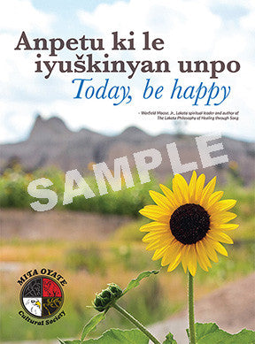 Mita Oyate Be Happy Poster - kili-creations