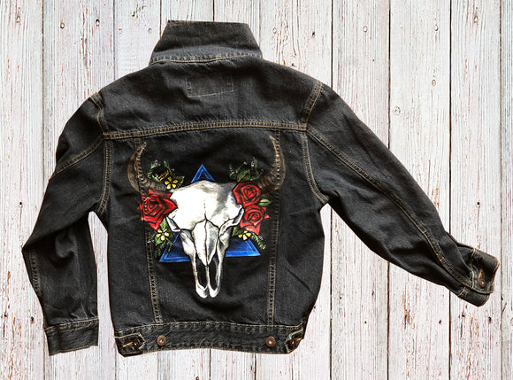 Strength+Beauty Hand-Painted Denim Jacket - kili-creations