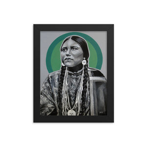 """Lakota Woman"" artwork by Shawna Clifford framed poster"
