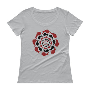 The Great Circle Ladies' Scoopneck T-Shirt (Slate)