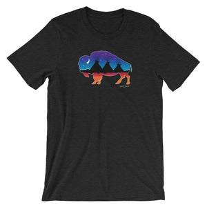 Buffalo Twilight Short-Sleeve Unisex T-Shirt - kili-creations