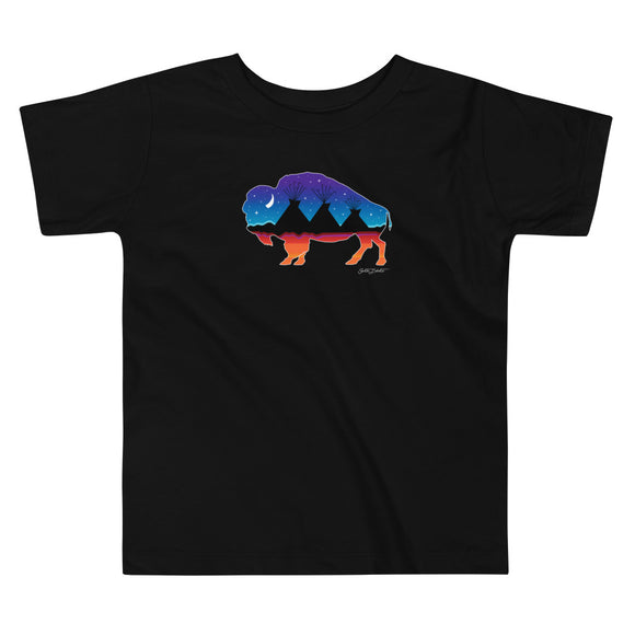 Buffalo Night Toddler Short Sleeve Tee