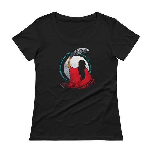 Mother Earth Ladies' Scoopneck T-Shirt - South Lakota