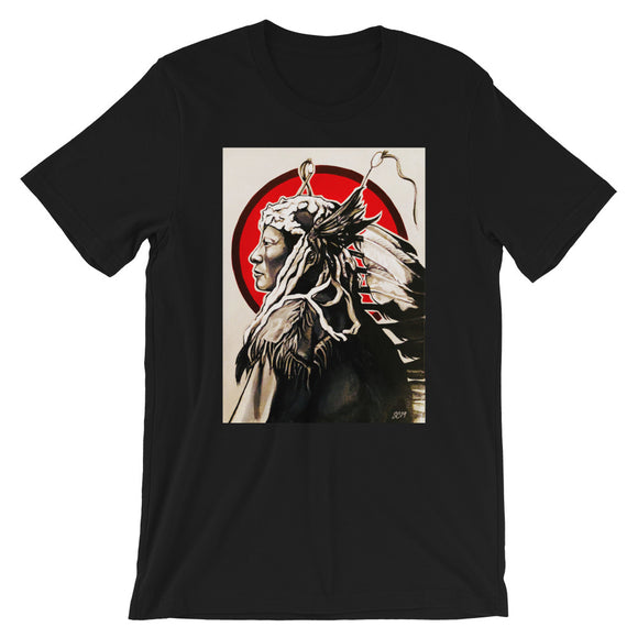 rain in the face portrait t-shirt South Lakota