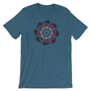 The Great Circle Short-Sleeve Men's T-Shirt (Teal Heather) - kili-creations