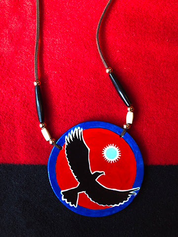 Flying Eagle Hand-Painted Medallion